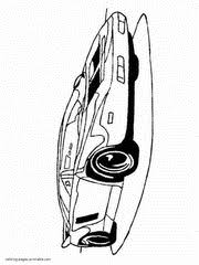sports car coloring pages boys
