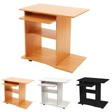 Pc Schreibtisch Buche Computertisch Pc Schreibtisch Bürotisch In Schwarz Oder Weiß Oder
