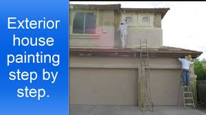 exterior house painting step by step youtube