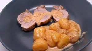 cuisine cookeo recette de filet mignon de porc au maroilles chignons et