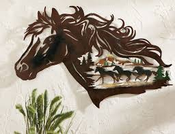 western decorations for home western art metal horse wall decor wonderfull metal horse wall