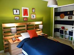 interior colorful home decor ideas for bedroom with green wall