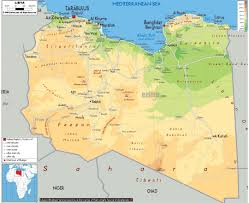 Africa Physical Map by Maps Of Libya Detailed Map Of Libya In English Tourist Map