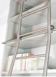 Bookcase Ladder Hardware Wow Colourful Akzent Library Ladder With Sliding Function And