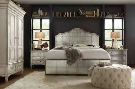 hooker furniture bedroom arabella queen mirrored panel bed 1610