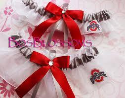 ohio state ribbon ohio state buckeyes fabric handmade into wedding bridal keepsake