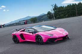kit car lamborghini aventador pink lamborghini aventador sv gets liberty walk kit