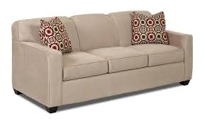 contemporary innerspring queen sleeper sofa with tight back and