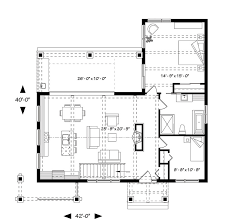 bungalow house plan with 2 bedrooms and 1 5 baths plan 1445