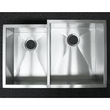 Kitchen Sinks Stainless Steel 33 Inch Stainless Steel Undermount 40 60 Offset Double Bowl