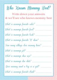who knows mommy best baby shower game 5 00
