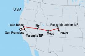 Denver Map Usa by California To The Rockies United States Tours Intrepid Travel Us