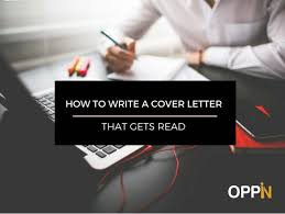 how to write a cover letter that gets read