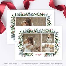 christmas card template for photographers photoshop card template