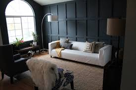 Diy Living Room by Our Dark Diyed Wainscoting Reveal Chris Loves Julia