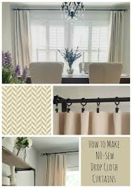how to make curtains how to make no sew drop cloth curtains the design twins diy home