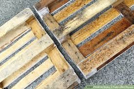 Making A Pallet Bed How To Make A Pallet Bed Frame 6 Steps With Pictures Wikihow