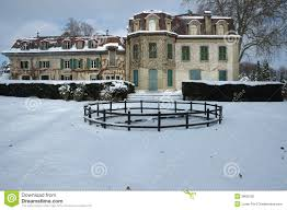 french country house in winter royalty free stock photos image
