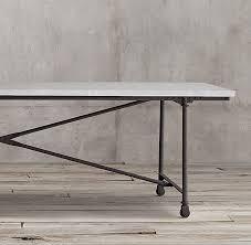 restoration hardware flatiron table marble rectangular dining table
