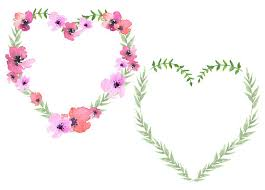 heart wreath heart wreath floral heart clipart flower heart s