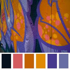 purple orange colour palette graffiti palette vone inspired