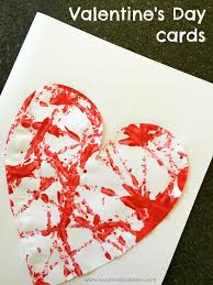 valentine s valentine s day cards with painted hearts laughing kids learn