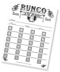 bunco sheets with an fashioned design from dice depot