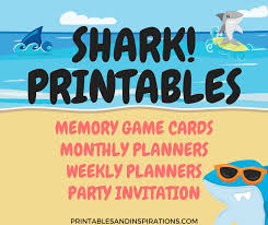 baby shark song free download shark printables free planners game cards and invitation