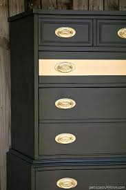 Before And Afters Clients Paint by Metallic Gold Stripe Adds Drama To Bedroom Furniture Gold Spray
