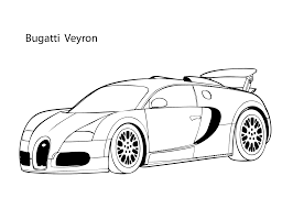 super car buggati veyron coloring page cool car printable free