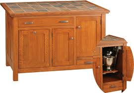Mission Style Kitchen Island by Wood N Choices