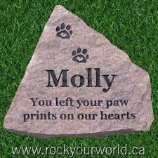 pet memorial stones pet memorial engraving ontario