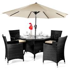 Round Wicker Patio Dining Set - roma black and white round dining table 4 chairs starrkingschool