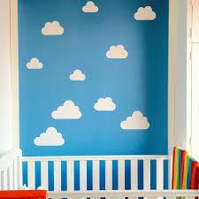 cloud wall stickers by little chip notonthehighstreet com customer photograph