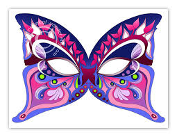 printable halloween masks butterfly dimensions