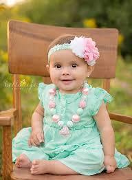 mint green headband chunky necklace pink mint green headband 2014 easter photography