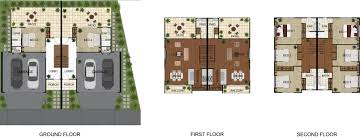 3d gallery budde design brisbane perth melbourne sydney 2d colour floor plan for a townhouse development newmarket qld