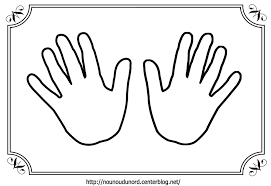 coloriage mains