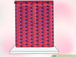 How To Make Material Blinds How To Make Roman Blinds With Pictures Wikihow