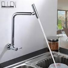 wall mounted kitchen faucet wall mounted cold kitchen faucet with swivel spout water tap