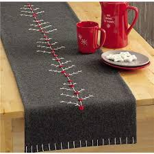 make christmas table runner christmas winter felt table runner could also do it with