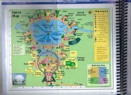 Disney World Epcot Map Williams Family My 2011 Passporter U0027s Walt Disney World