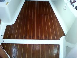 Teak And Holly Laminate Flooring Refinishing The Cabin Sole