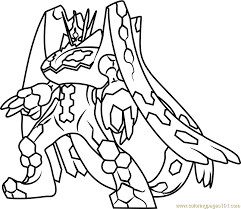 zygarde complete forme pokemon sun moon coloring free