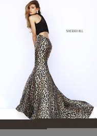 2016 buy sale sherri hill leopard print two piece prom dresses she