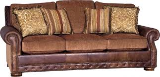 Leather With Fabric Sofas Vanity Brick Leather Fabric Sofa Southern Creek Rustic