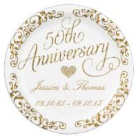 anniversary plates 50th wedding anniversary plates zazzle