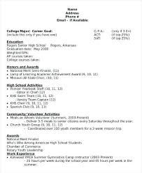 High Student Resume Template By by Resume Objectives For High Graduates Download Resume