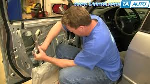 how to install replace front power window regulator and motor