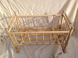victorian pine cot crib 3 long 2 u0027 wide with cotton damask liner